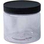Clear - Jacquard Empty Wide Mouth Plastic Jar 16oz