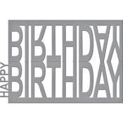 Happy Birthday Easel - Spellbinders Shapeabilities Dies