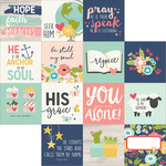 "4""X4"" Element Journaling Cards - Faith - Simple Stories"