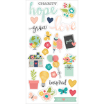 Faith Chipboard Stickers - Simple Stories