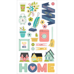 Domestic Bliss Chipboard Stickers - Simple Stories