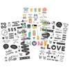 Color & Black - Domestic Bliss Clear Stickers - Simple Stories