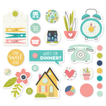 Domestic Bliss Metal Brads & Tags - Simple Stories