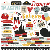 """Combo - Say Cheese III Cardstock Stickers 12""""X12"""" - Simple Stories"""