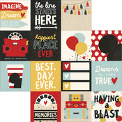 "4""X4"" Horizontal Journaling Cards Paper - Say Cheese III - Simple Stories"