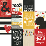"""4""""X4"""" Vertical Elements Paper - Say Cheese III - Simple Stories"""