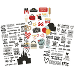 """Say Cheese III Clear Stickers 4""""X6"""" 3/Pkg"""
