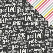 Be A Unicorn Paper - Emoji Love - Simple Stories