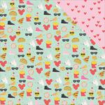 Choose Happy Paper - Emoji Love - Simple Stories