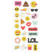 Emoji Love Chipboard Stickers - Simple Stories