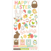 "Simple Sets Easter/Spring Cardstock Stickers 6""X12"""