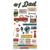 "Simple Sets Father's Day Cardstock Stickers 6""X12"""