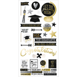"Simple Sets Graduation Cardstock Stickers 6""X12"""