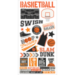 "Simple Sets Basketball Cardstock Stickers 6""X12"""