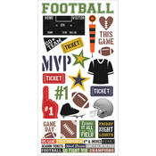 "Simple Sets Football Cardstock Stickers 6""X12"""