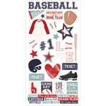 "Simple Sets Baseball Cardstock Stickers 6""X12"""