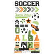 "Soccer - Simple Sets Soccer Cardstock Stickers 6""X12"""