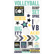 "Volleyball - Simple Sets Volleyball Cardstock Stickers 6""X12"""
