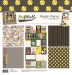 Softball - Simple Stories Simple Sets Collection Kit