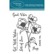 "Wild Rose - Technique Tuesday Clear Stamps 3""X4"""