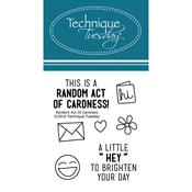 """Random Act Of Cardness - Technique Tuesday Clear Stamps 2""""X2.5"""""""