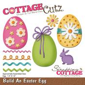 "Build An Easter Egg, 1.4""X1.9"" - CottageCutz Die"