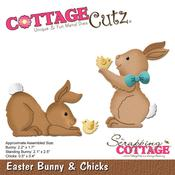 """Easter Bunny & Chicks, .05"""" To 2.2"""" - CottageCutz Die"""