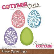 """Fancy Spring Eggs, 1.5""""X2"""" - CottageCutz Die"""