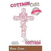 "Rose Cross, 2.1""X3"" - CottageCutz Elites Die"