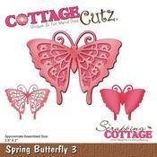 """Spring Butterfly 3, 2.6""""X2"""" - CottageCutz Die"""