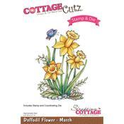 """Daffodil - March, 2.4""""X3.1"""" - CottageCutz Stamp & Die Set"""