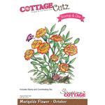 """Marigolds - October, 2.8""""X3"""" - CottageCutz Stamp & Die Set"""