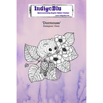 """Dormouse - IndigoBlu Cling Mounted Stamp 5""""X4"""""""