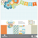 """Hello Baby Boy - Paper House Paper Crafting Kit 12""""X12"""""""