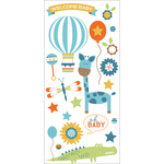 "Blue Boy - Hello Baby Puffy Stickers 3""X6.5"""