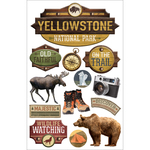 "Yellowstone - Paper House 3D Stickers 4.5""X7"""