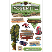 "Yosemite - Paper House 3D Stickers 4.5""X7"""