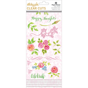 Happy Thoughts - Paper House Sticky Pix Clear Cuts Stickers 5/Pkg