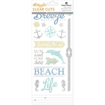 Beach - Paper House Sticky Pix Clear Cuts Stickers 5/Pkg