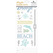 Beach - Paper House Sticky Pix Clear Cuts Stickers 5/Pkg