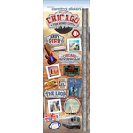 "Chicago The Windy City - Paper House Cardstock Stickers 4.625""X13"""