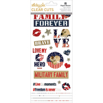 Homefront Girl - Paper House Sticky Pix Clear Cuts Stickers 5/Pkg