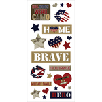 "Love My Hero - Homefront Girl Puffy Stickers 3""X6.5"""