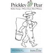 "Boy With Fishing Pole - Prickley Pear Cling Stamps 2""X3"""