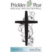 """Spring Cross - Prickley Pear Cling Stamps 2.75""""X3.5"""""""