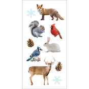 "Winter Animals - Paper House Sticky Pix Stickers 2""X8"""