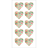 "Floral Hearts - Paper House Sticky Pix Stickers 2""X8"""