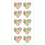 """Floral Hearts - Paper House Sticky Pix Stickers 2""""X8"""""""