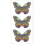 "Mosaic Butterflies - Paper House Sticky Pix Stickers 2""X8"""