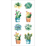 "Succulents - Paper House Sticky Pix Stickers 2""X8"""